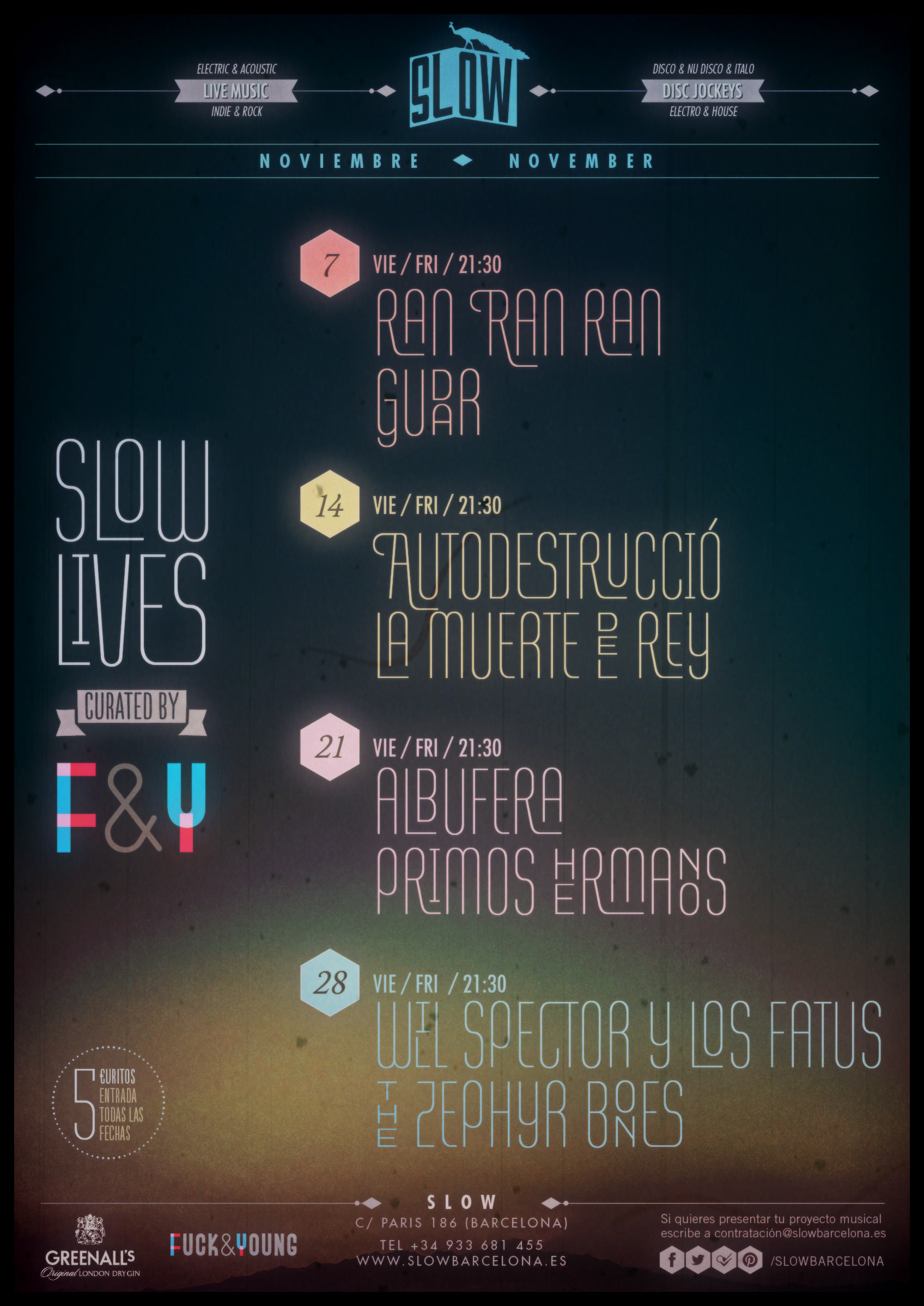 Poster Slow Lives by Fuck & Young