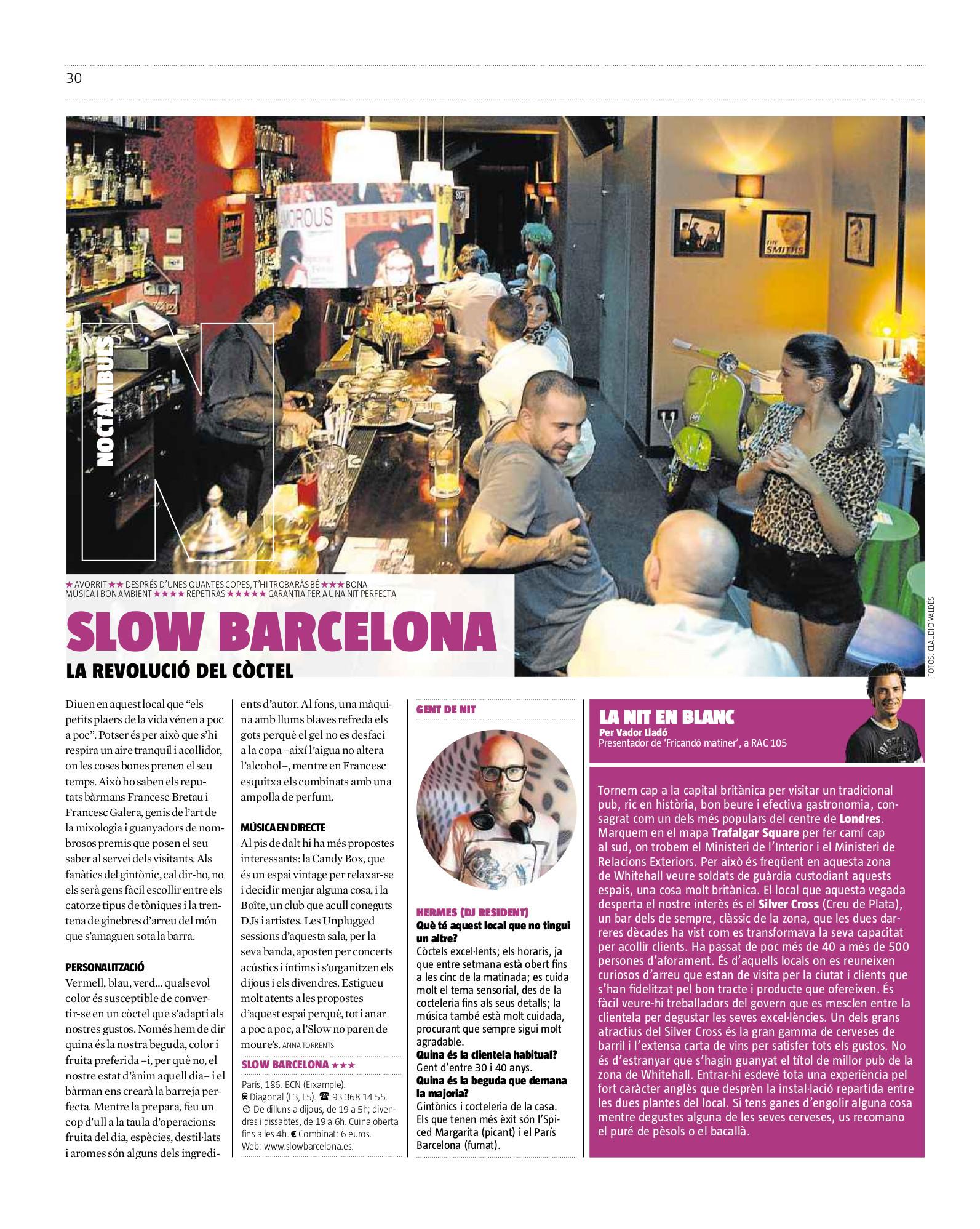 Slow en el Què Fem de La Vanguardia