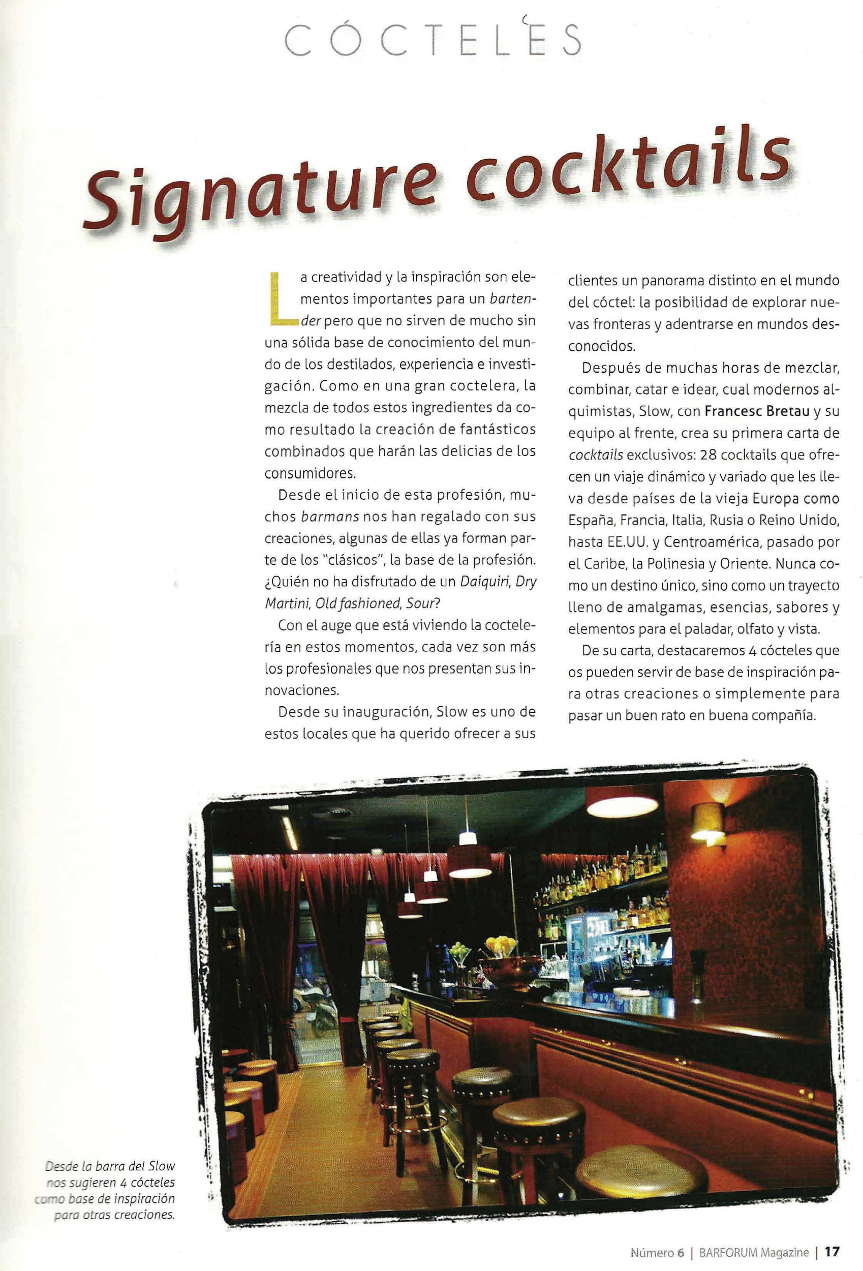 Barforum Magazine alaba nuestra labor!