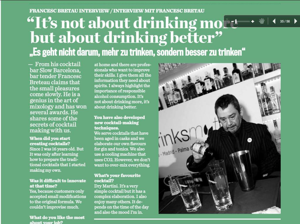 """""""No se trata de beber más, sino de beber mejor"""""""